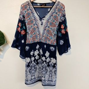 Renee c. Tie Waist Tunic,  Size 2x Floral Tunic